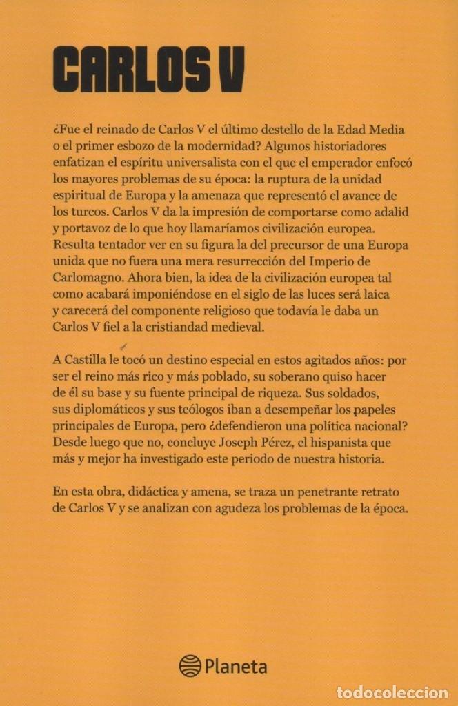 Libros: CARLOS V de JOSEPH PEREZ - PLANETA - Foto 2 - 288414553