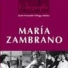 Libros: BIOGRAFÍA MARÍA ZAMBRANO. Lote 142385997
