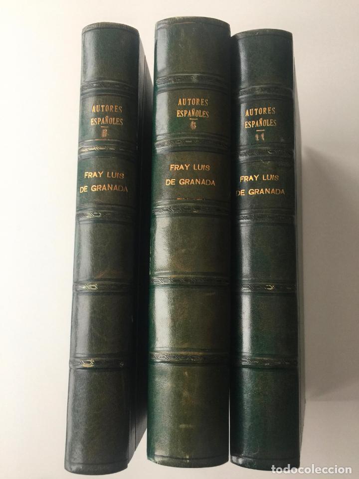 BIBLIOTECA DE AUTORES ESPAÑOLES - FRAY LUIS DE GRANADA - 3 TOMOS - MADRID 1944 (Libros Nuevos - Literatura - Biografías)