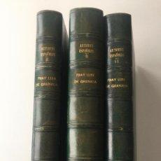 Libros: BIBLIOTECA DE AUTORES ESPAÑOLES - FRAY LUIS DE GRANADA - 3 TOMOS - MADRID 1944 . Lote 147405702