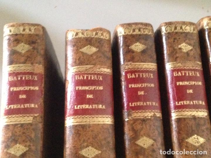 Libros: Batteux principios de literatura lote de libros - Foto 3 - 181435462