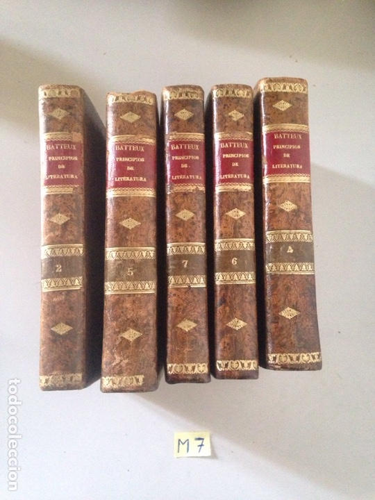 BATTEUX PRINCIPIOS DE LITERATURA LOTE DE LIBROS (Libros Nuevos - Literatura - Biografías)