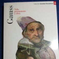 Libros: NUEVO EN EL PLÁSTICO. GAUSS. VIDA PENSAMIENTO Y OBRA. Lote 182736723