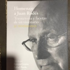 Libros: HOMENAJE A JUAN RODES. Lote 184126301