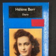 Libros: DIARIO - HELENE BERR - COMPACTOS ANAGRAMA 1ª ED. 2010 - NUEVO DE EDITORIAL, SIN LEER. Lote 196906161