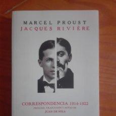 Libros: MARCEL PROUST. CORRESPONDENCIA 1914-1922. Lote 212799287
