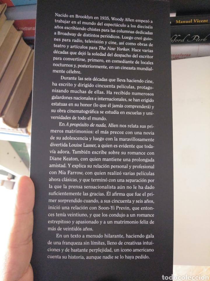 A PROPÓSITO DE NADA. ALLEN, WOODY. ALIANZA. NUEVO (Libros Nuevos - Literatura - Biografías)