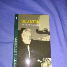 Libros: LIBRO RUTAS LITERARIAS (UNAMUNO EN GRAN CANARIA). Lote 218539530