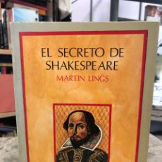 Libros: EL SECRETO DE SHAKESPEARE. Lote 218726453