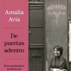 Libros: DE PUERTAS ADENTRO .AMALIA AVIA.. Lote 255663060