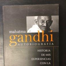 Livres: AUTOBIOGRAFÍA DE GANDHI. Lote 222230747