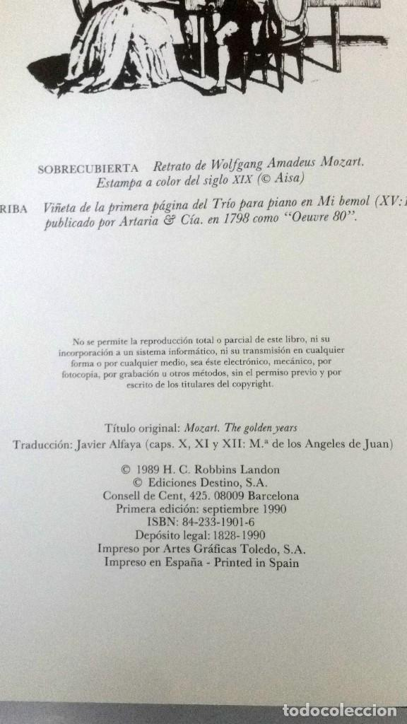 Libros: Mozart, los años dorados. Robbin Landon - Foto 3 - 225561090