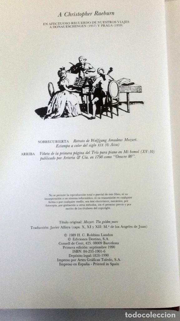 Libros: Mozart, los años dorados. Robbin Landon - Foto 4 - 225561090