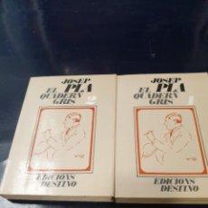 Libros: EL QUADERN GRIS JOSEP PLA 2 VOLMS. Lote 245075430