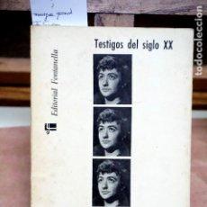 Libros: MOURGUE GERARD.FRANÇOISE SAGAN.TESTIFOS DEL SIGLO XX,10.. Lote 253452100