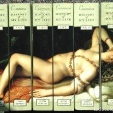 Libros: HISTORY OF MY LIFE - GIACOMO CASANOVA, CHEVALIER DE SEINGALT. - 6 VOLÚMENES DOBLES - EN INGLÉS -. Lote 253729950