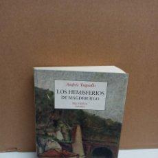 Libros: ANDRÉS TRAPIELLO - LOS HEMISFERIOS DE MAGDEBURGO - EDITORIAL PRE-TEXTOS. Lote 262602605