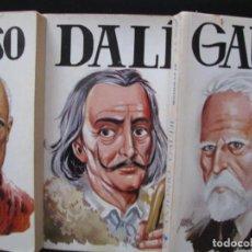 Libros: BIOGRAFÍAS GENIOS DEL ARTE-DALÍ, PICASSO, GAUDÍ-ANTONIO BUENO TELLO-VILMAR EDICIONES-1990, 3 LIBROS. Lote 267488519
