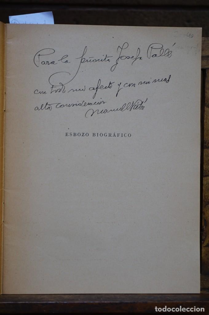MANUEL RIBE LABARTA,ESBOZO BIOGRAFICO.DEDICATORIA. (Libros Nuevos - Literatura - Biografías)