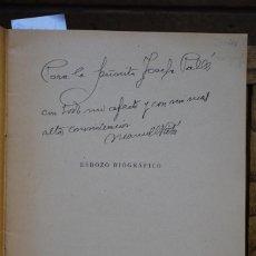 Libros: MANUEL RIBE LABARTA,ESBOZO BIOGRAFICO.DEDICATORIA.. Lote 269091958