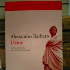 Livres: ALESSANDRO BARBERO. DANTE .ACANTILADO. Lote 289024268