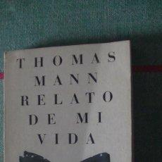 Libros: THOMAS MANN. RELATO DE MI VIDA. ALIANZA, 1980. Lote 289483688