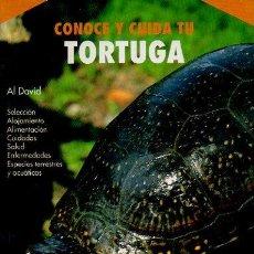 Libros: CONOCE Y CUIDA TU TORTUGA. AL DAVID. HISPANO EUROPEA, 1ª EDICIÓN, 2001. Lote 47952797
