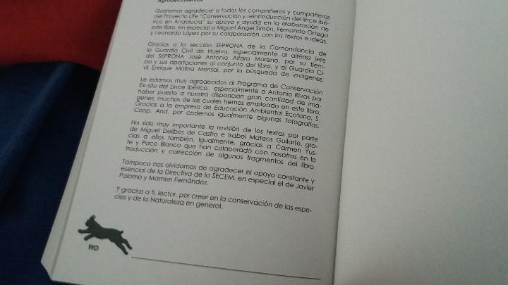 Libros: MANUAL. LIBRO. CONSERVACION EX SITU DEL LINCE IBERICO:UN ENFOQUE MULTIDISCIPLINAR. UNICO EN TC. LEER - Foto 6 - 98239011