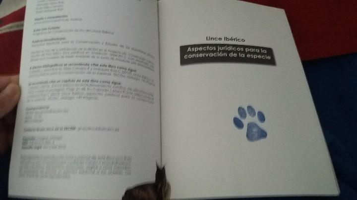 Libros: MANUAL. LIBRO. CONSERVACION EX SITU DEL LINCE IBERICO:UN ENFOQUE MULTIDISCIPLINAR. UNICO EN TC. LEER - Foto 7 - 98239011