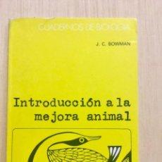 Libros: INTRODUCCIÓN A LA MEJORA ANIMAL. OMEGA.. Lote 112646239