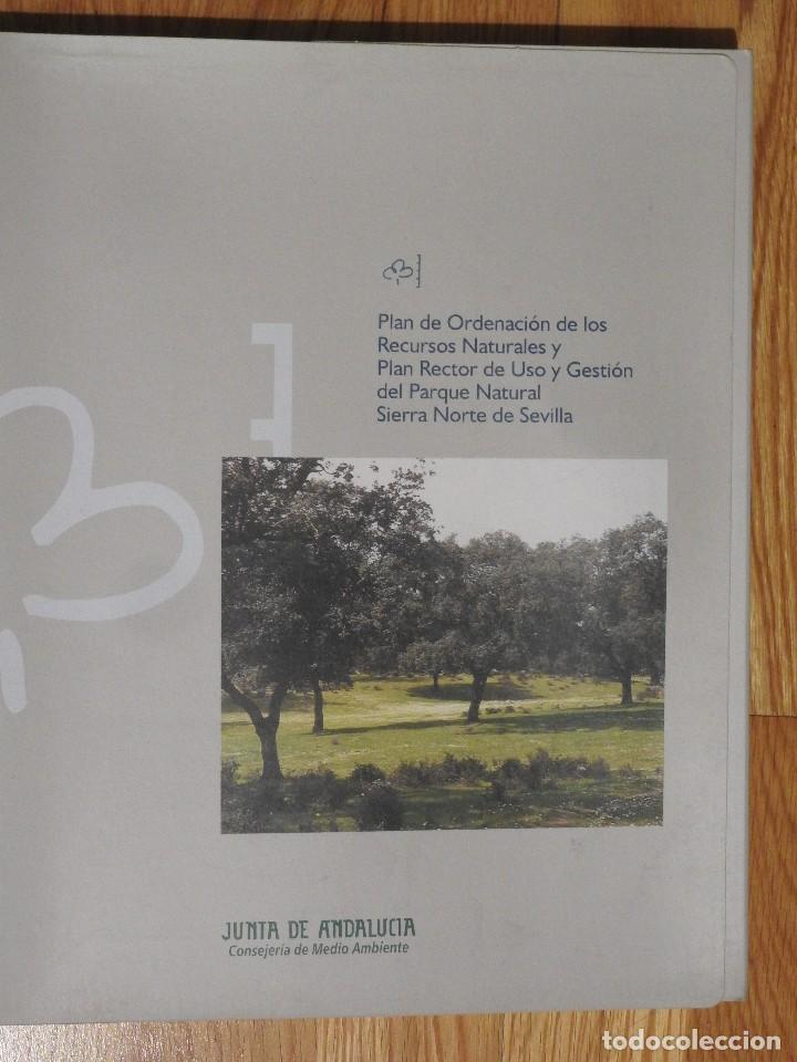 Libros: PORN Y PRUG DEL PARQUE NATURAL SIERRA NORTE DE SEVILLA CON MAPAS - Foto 2 - 112934491
