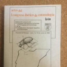 Libros: ACTAS 1ER. CONGRESO IBÉRICO DE ENTOMOLOGÍA. VOL. II. UNIVERSIDAD DE LEÓN.. Lote 119522943