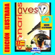 Libros: AVES NIDIFICANTES DE CANARIAS - TONY SÁNCHEZ - ORNITOLOGÍA PÁJAROS - NUEVO - MUY ILUSTRADO. Lote 136819606