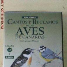 Libros: CANTOS Y RECLAMOS DE LAS AVES DE CANARIAS. Lote 139491386