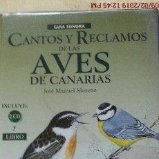 Libros: GUÍA SONORA -CANTOS Y RECLAMOS DE LAS AVES DE CANARIAS-J.MANUEL MORENO-ED.TURQUESA (LIBRO+ 2 CD'S). Lote 139491386