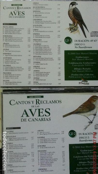 Libros: CANTOS Y RECLAMOS DE LAS AVES DE CANARIAS - Foto 5 - 139491386