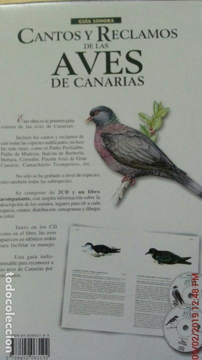 Libros: CANTOS Y RECLAMOS DE LAS AVES DE CANARIAS - Foto 6 - 139491386
