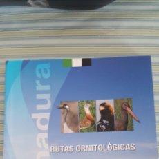 Libros: RUTAS ORNITOLÓGICAS POR EXTREMADURA. FAUNA. ORNITOLOGÍA. AVES. Lote 156701256
