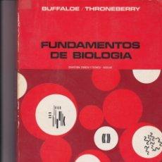 Libros: FUNDAMENTOS DE BIOLOGÍA. Lote 165758742