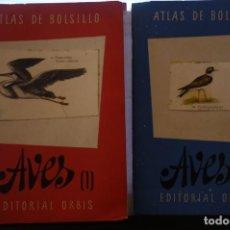 Libros: ATLAS DE BOLSILLO. AVES (1 ) Y ( 2 ). EDITORIAL ORBIS. 1955. IGNACIO DE SAGARRA. Lote 166673366
