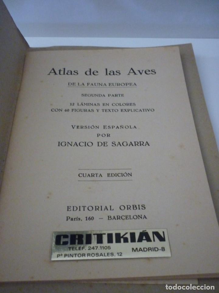 Libros: ATLAS DE BOLSILLO. AVES (1 ) Y ( 2 ). EDITORIAL ORBIS. 1955. IGNACIO DE SAGARRA - Foto 9 - 166673366