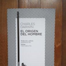 Libros: CHARLES DARWIN - EL ORIGEN DEL HOMBRE. Lote 182939968