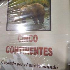 Libros: CINCO CONTINENTES. CAZANDO POR EL ANCHO MUNDO. Lote 184451177