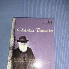Libros: LIBRO DE CHARLES DARWIN EL ORIGEN DE LAS ESPECIES POR MEDIO DE LA SELECCION NATURAL. Lote 219433772