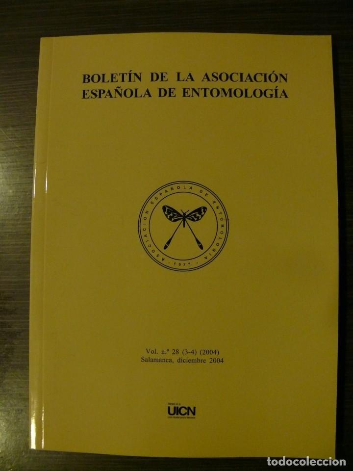 BOLETÍN DE LA ASOCIACIÓN ESPAÑOLA DE ENTOMOLOGÍA AÑO 2004 VOLUMEN 28 (3-4) (Libros Nuevos - Ciencias, Manuales y Oficios - Biología)