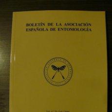 Libros: BOLETÍN DE LA ASOCIACIÓN ESPAÑOLA DE ENTOMOLOGÍA AÑO 2004 VOLUMEN 28 (3-4). Lote 224756143