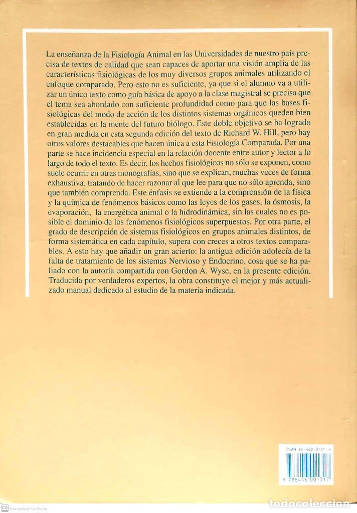 Libros: Fisiología animal.Richard W.Hill/Gordon A.Wyse.Akal.1ªEdición.1992. - Foto 2 - 228137625