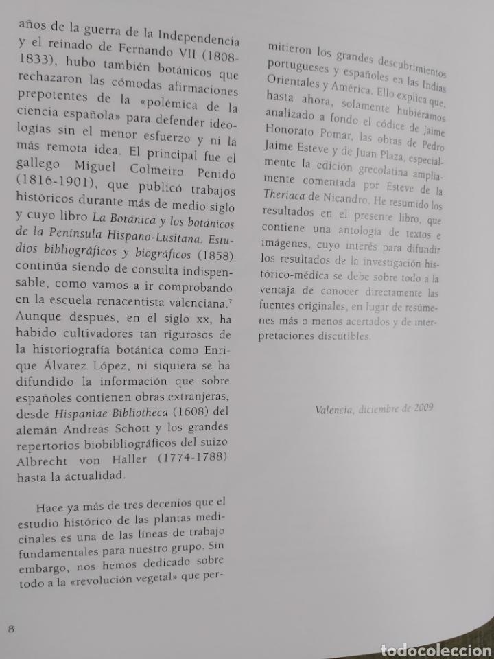 Libros: LA ESCUELA BOTÁNICA VALENCIANA DEL RENACIMIENTO. NUEVO! ED. 2010 - Foto 5 - 229348390