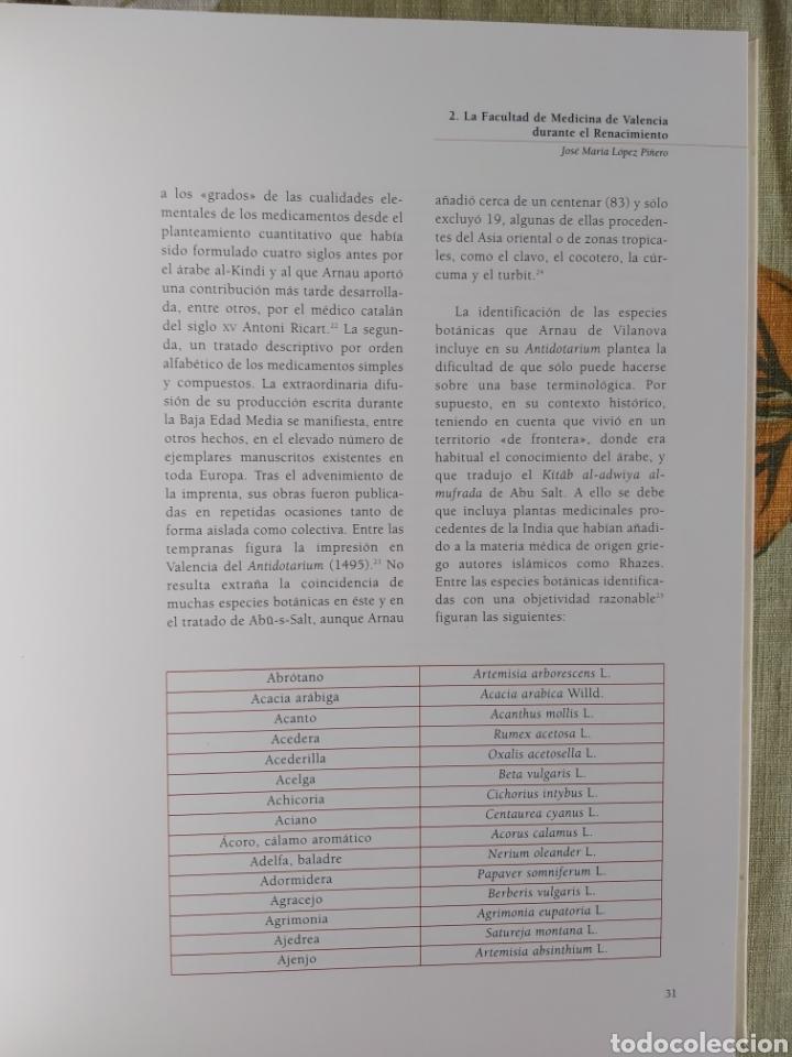 Libros: LA ESCUELA BOTÁNICA VALENCIANA DEL RENACIMIENTO. NUEVO! ED. 2010 - Foto 6 - 229348390