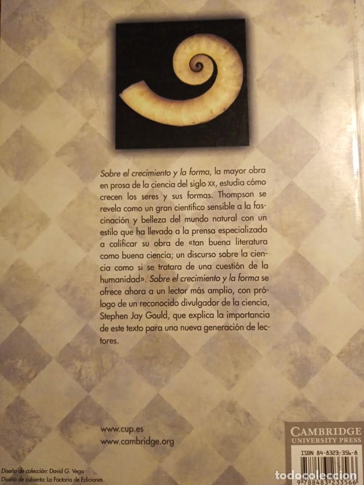 Libros: SOBRE EL CRECIMIENTO Y LA FORMA. DARCY THOMPSON - Foto 2 - 231403350